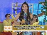 Asia's Acoustic Sweetheart, Sabrina live sa UKG