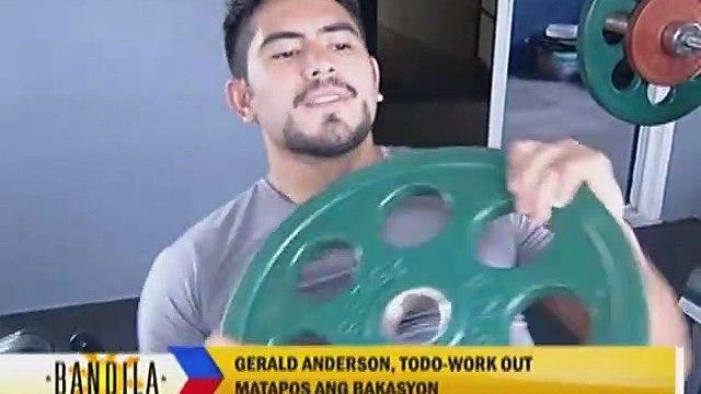 Gerald Anderson, todo-work out matapos ang bakasyon