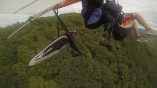 Hang Glider And Paraglider Collide In The Sky