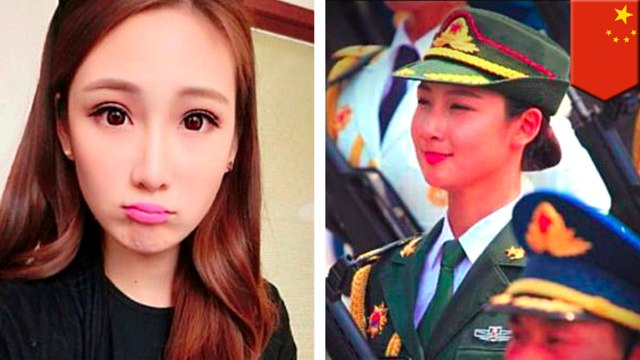 "Meet China's ""most beautiful"" soldier"