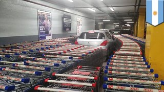Car parks in shopping cart bay so workers get revenge
