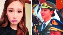 中國最美士兵 女模加入解放軍遊行網友暴動