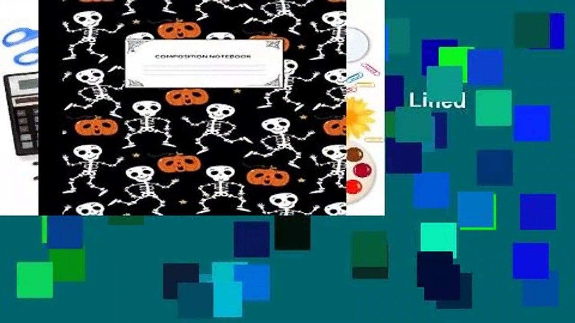 [Read] Composition Notebook: Blank Lined College Ruled Notebook Journal   Halloween Themed  