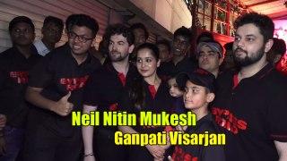 Saaho Neil Nitin Mukesh EMOTIONAL during GANPATI VISARJAN | Too Adorable Moment|
