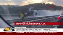 Ataşehir'de gaz tankeri devrildi