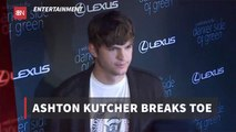 Ashton Kutcher Has An Unusual Accident