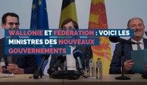 Wallonie et Fédération : voici les ministres des nouveaux gouvernements