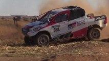 Fernando Alonso, con el Toyota del Dakar en Sudáfrica