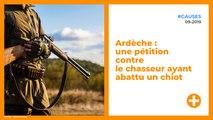 Ardèche : une pétition contre le chasseur ayant abattu un chiot