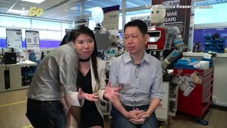 Robot-Designing Couple Welcomes Own Human Creation