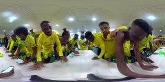 Vidéo 360° : la joie du vestiaire face à Montpellier