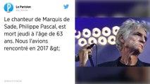 Mort de Philippe Pascal : la scène rennaise rend hommage au chanteur du groupe Marquis de Sade