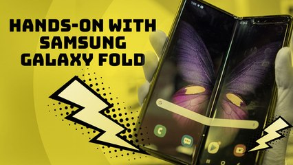 Hands-on with the Samsung Galaxy Fold, the first foldable smartphone