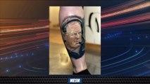 Patriots Fan Gets Bill Belichick's Face Tattooed On Her Leg