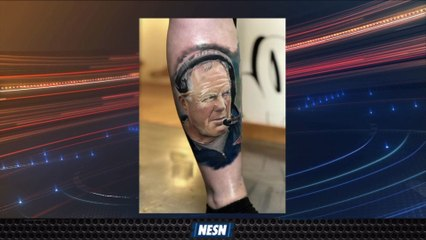 Patriots Fan Gets Bill Belichick's Face Tattooed On Her Leg