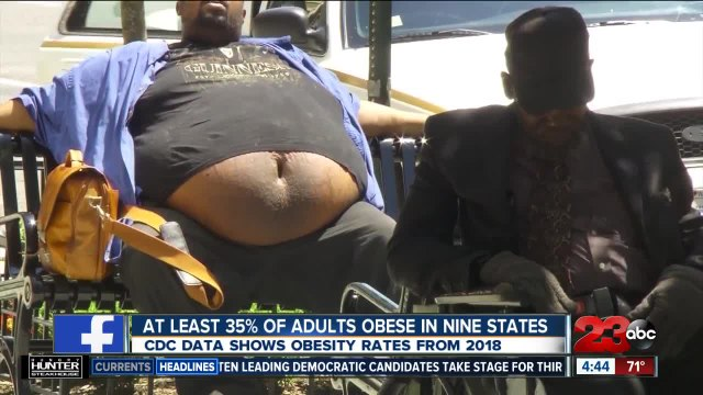 At least 35% if adults are obese in nine states
