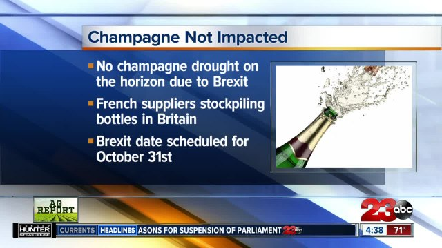No champagne drought on the horizon due to Brexit