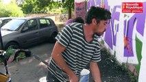 VIDEO. Poitiers : des graffeurs réalisent une fresque sous la pénétrante à Montbernage
