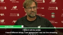 I trust UEFA will give us a shower - Klopp on Napoli changing rooms