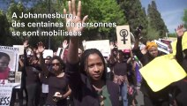 Manifestation contre les violences faites aux femmes à Johannesburg