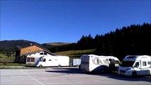 Air de camping car   -Parking  du Balancier - ski -  nature- 39  vidéo  lulu du jura