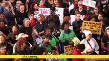 South Africa activists protest gender-based violence