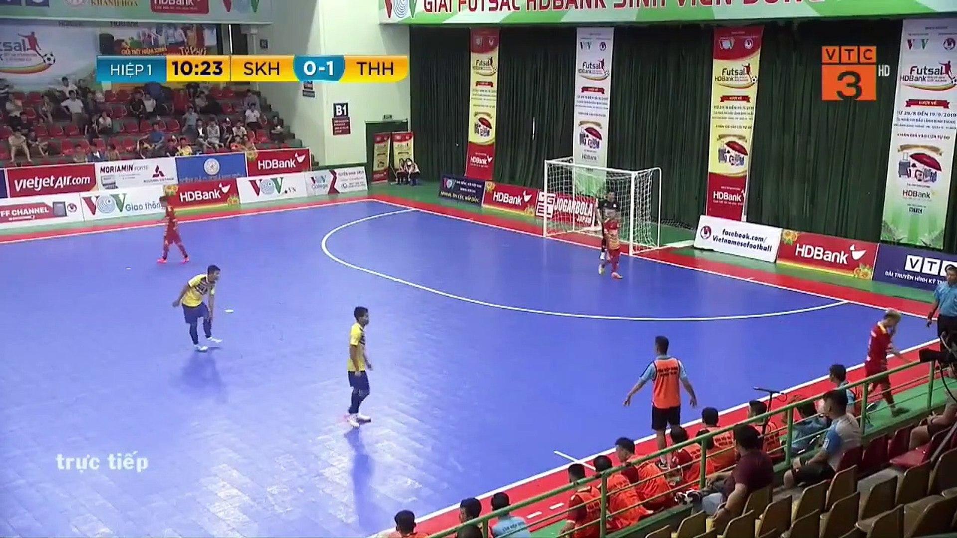 Trực tiếp   Sanvinest Sanna KH - Tân Hiệp Hưng   Futsal HDBank 2019   VFF Channel