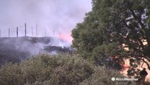Another possibly intentional fire springs up along California hills