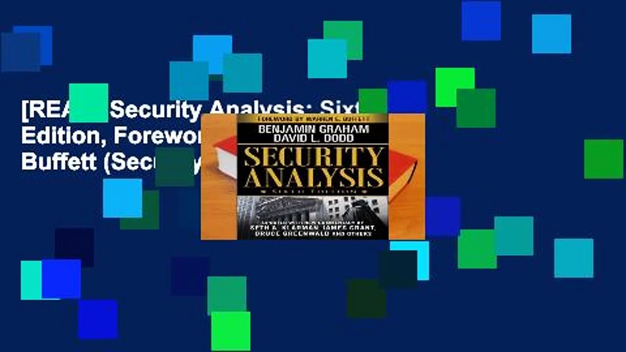 [READ] Security Analysis: Sixth Edition, Foreword by Warren Buffett (Security Analysis Prior