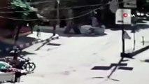 لحظة انفجار سيارة مفخخة في مدينة عفرين