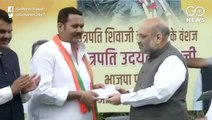 NCP MP Udayanraje Bhosale Joins BJP