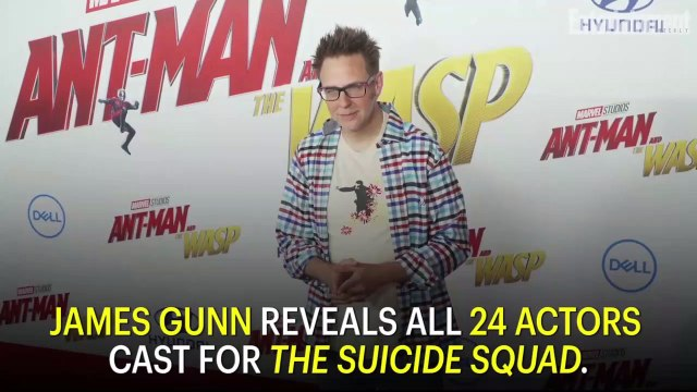 James Gunn Reveals All 24 Actors Cast For The Suicide Squad | News Flash | Entertainment Weekly