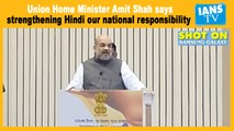 Strengthening Hindi our national responsibility: Amit Shah