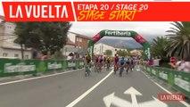 Départ de l'étape / Stage Start - Étape 20 / Stage 20 | La Vuelta 19