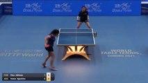 Adriana Diaz vs Augustina Iwasa | 2019 ITTF Paraguay Open Highlights (R16)