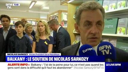 Nicolas Sarkozy apporte son soutien à Patrick Balkany