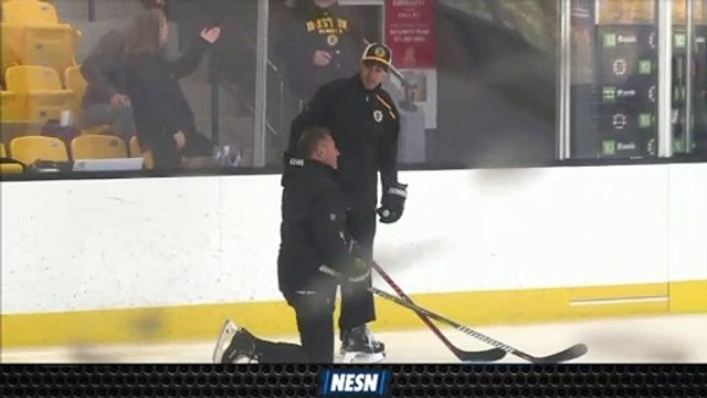 Bruce Cassidy Collides With Bruins Player In Practice