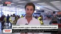 Regardez les images des Gilets Jaunes qui ont envahi l'aéroport d'Orly cette après-midi pour protester contre la privatisation de ADP