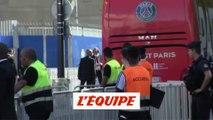 L'arrivée du bus au Parc des Princes - Foot - L1 - PSG