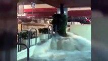 La fuerza del agua arrastra una docena de coches en Alhaurín el Grande