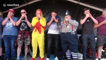 Bizarre onion eating competition takes place in the UK