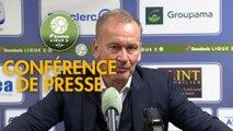 Conférence de presse FC Chambly - AJ Auxerre (1-4) : Bruno LUZI (FCCO) - Jean-Marc FURLAN (AJA) - 2019/2020