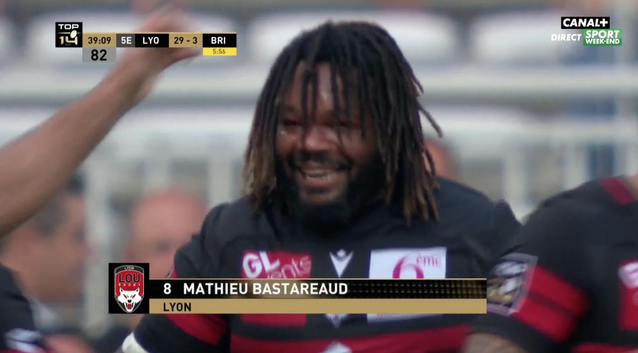 Le premier essai de Mathieu Bastareaud avec LOU Rugby