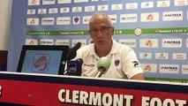 """Pascal Gastien, entraîneur du Clermont Foot après la défaite contre Lorient : """"A nous de mieux aborder les matchs"""""""