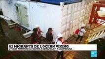Le Ocean Viking débarque à Lampedusa
