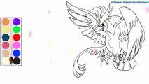 Coloration Phénix- Pidgeot Pokémon   Peindre pour les jeunes enfants et dessiner pour les enfants