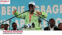Giga meeting de l'opposition : Maurice Guikahué annonce le prochain rassemblement au stade Félix Houphouët Boigny
