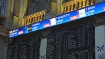 El Ibex 35 caía un 0,2 % tras la apertura y  pone en riesgo los 9.000 puntos