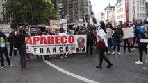 Des manifestants hostiles à M. Tshisekedi dans les rues de Bruxelles