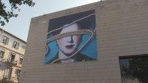 La artista Carmen Calvo viste la fachada del IVAM para visibilizar a la mujer